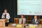 Sesja Plenarna (1): Prof. Alicja Przyłuska Fiszer - Rektor AWF Warszawa, Prof. Andrzej Kosmol - Przewodniczący PTN-AAF i Prof. Krzysztof Klukowski - Członek PTN-AAF