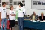 Registration (2): Volunteers  - Urszula Lach, Anna Ogonowska and Artur Morgulec